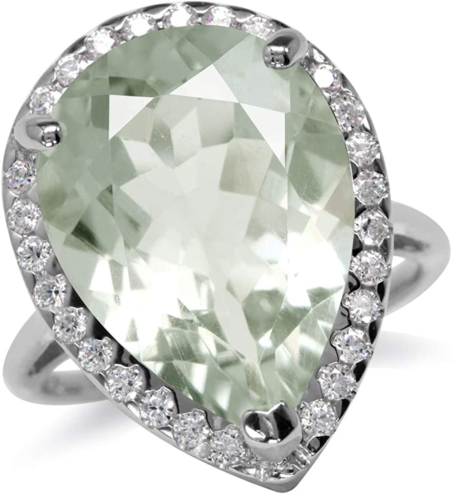 Silvershake Sales of SALE items from new works Huge 9.54ct. 18X13mm Natural Green Pear Amethy price Shape
