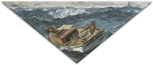 Pet Triangle Bandana Boat In Raging River Washable Dog Puppy Scarf Bib Babys Neckerchief Accessories
