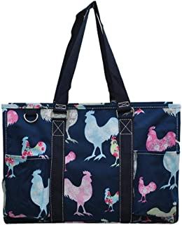All Purpose Organizer Medium Utility Tote Bag 2019 Collection (Rooster Navy)