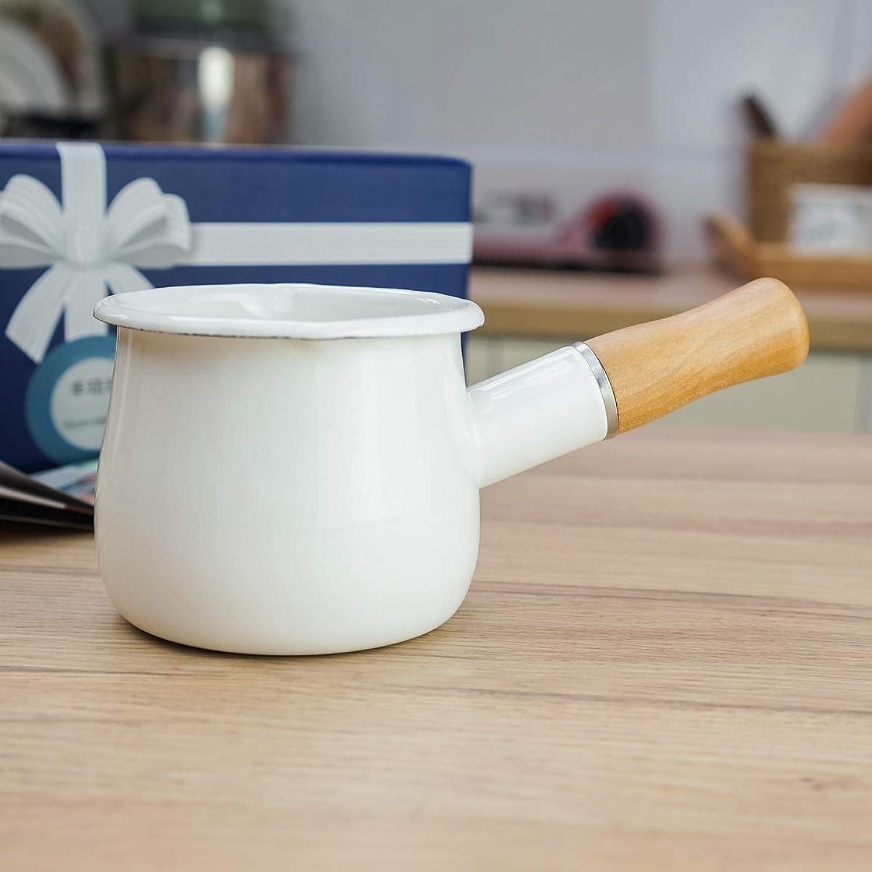 opciones a bajo precio Cazo Cacerolas EsmalteMilk EsmalteMilk EsmalteMilk Pan Enamel Pot Esmalte Fugas de una sola boca Mini Milk Pot Suplemento de alimentos para bebés Pot Pots Bowl Butter Pot Coffee Milk Cup, blancoo  envío rápido en todo el mundo