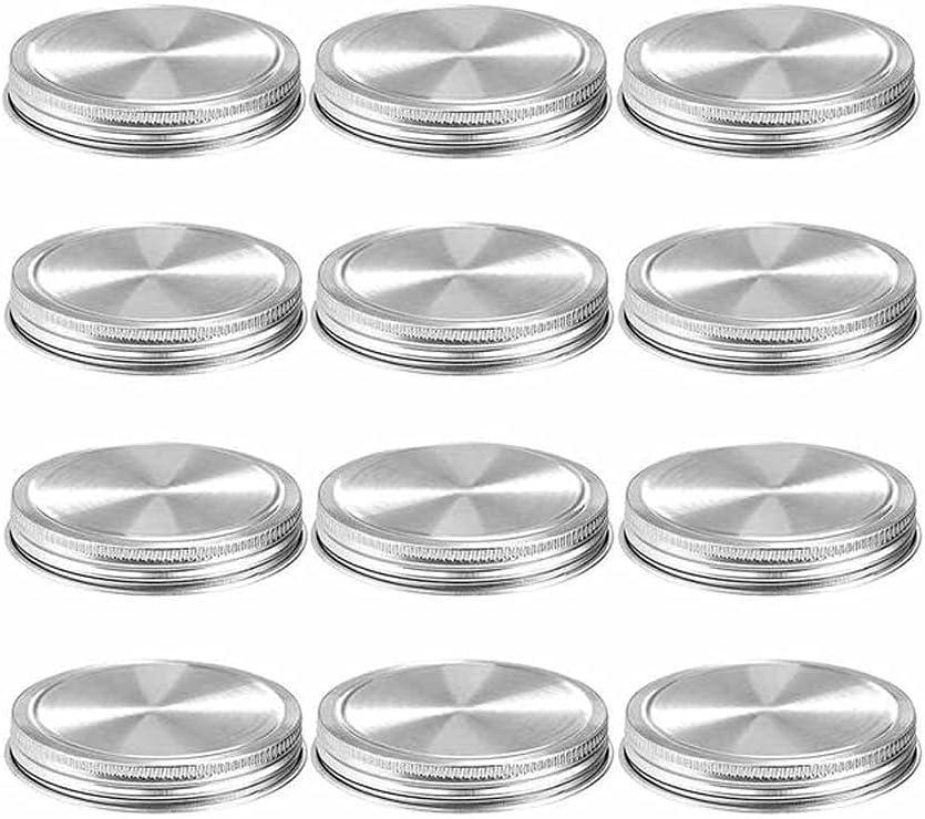 HAHFKJ 12pcs 2021 Tinplate Mason Online limited product Jar Lids Wi Regular 86MM 70 Reusable