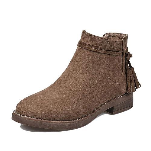 ebd50fc93cf Women's Shoe Boots Low Heel Brown: Amazon.com