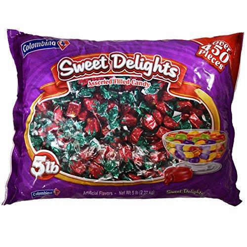 Fancy Filled Strawberry Bon Bons Candy 5 Lb Colombina