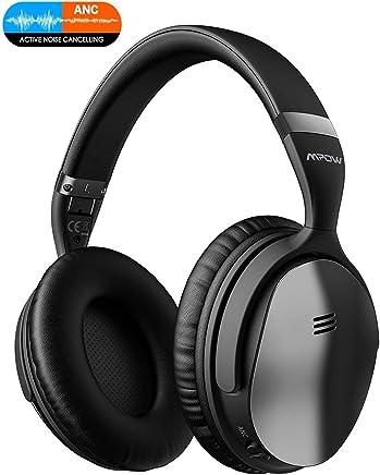 Mpow H5 Casque Bluetooth Réduction de Bruit Active, 30 Heures Stéréo Hi-FI Casque Bluetooth sans Fil, Over-Ear ANC Casque Audio Pliable avec Microphone Intégré pour Téléphone/Tablettes/PC
