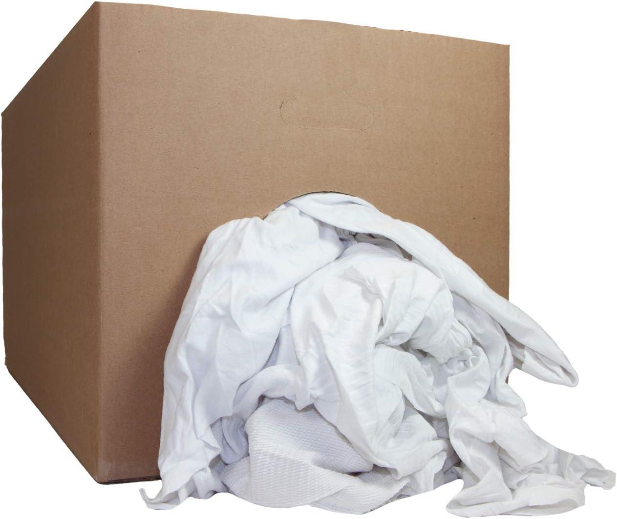 Arkwright LLC White Knit Cleaning T-Shirt 信託 25 Box lbs. Rags - B 優先配送