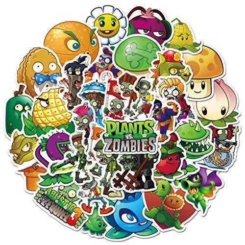 Plants vs. Zombies Stickers Cute Cartoon Game Comics Vinyl Waterproof Stickers Kids Room Decor Sticker (Plants vs. Zombies)