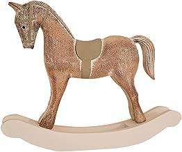 Leoy88 Large Traditional Christmas Wooden Rocking Horse Ornament Decoration (C)