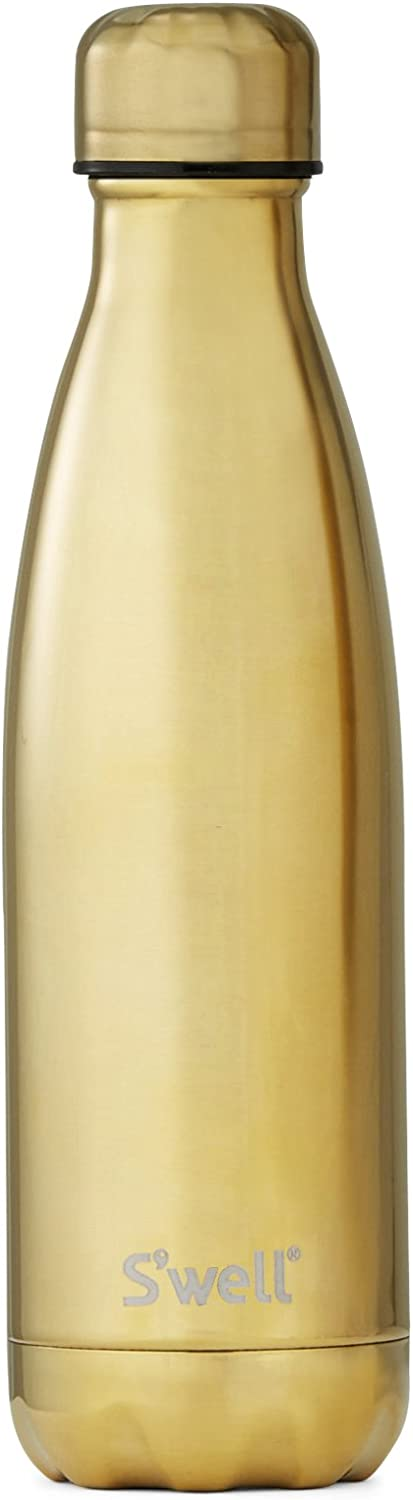S'well Vacuum Insulated Stainless Steel Water Bottle S'well Vacuum Insulated Stainless Steel Water Bottle, 17 oz, Yellow gold 17 oz Yellow gold