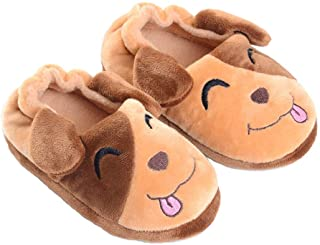 Hezeisoar Pantofole A Casa per Bambini Peluche Antiscivolo Scarpe Indoor delle Pantofole per Ragazzi Ragazze Invernali Cal...