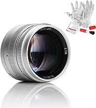 7artisans 50mm F1.1 Full Frame Large Aperture Fixed Lens for Leica M-Mount Cameras Like Leica M2 M3 M4-2 M5 M6 M7 M8 M9 M10 M4P M9p M240 M240P ME M262 M-M CL - Silver