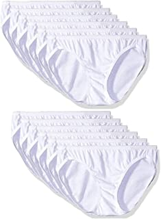 Hanes (12 Pack) 100% White Cotton Bikini Underwear Women Panties Sexy Women's Underwear Soft Tagless