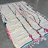 Beni Ouarain Tapis oriental en laine tribal naturel tissé à la main Motif azilal azilal Berber 215 x...