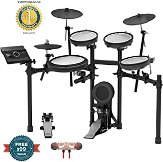Roland Electronic Drum Set (TD-17KV-S)includes Free Wireless Earbuds - Stereo Bluetooth In-ear and 1 Year Everything Music Extended Warranty