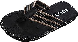 Yowablo Chaussures Sandales Hommes Été Tongs Pantoufle Homme Tongs
