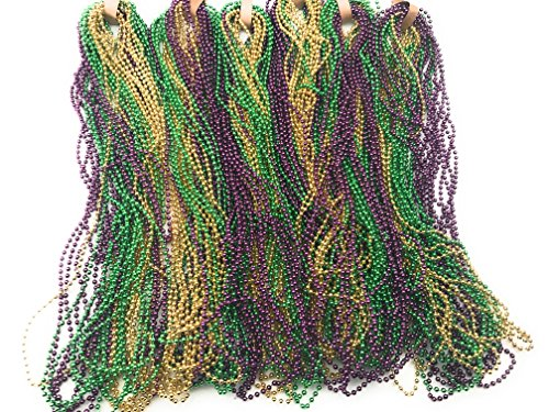 Oojami Mardi Gras Beads (144 Pieces)