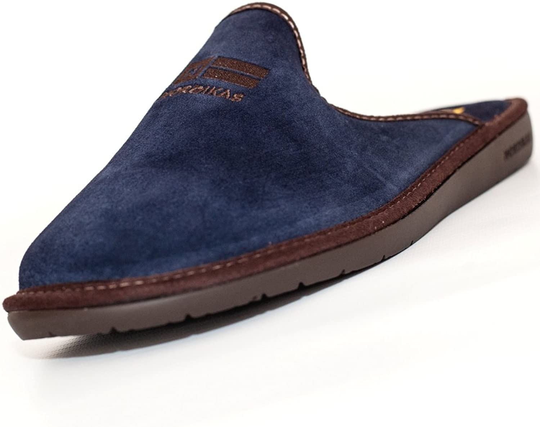 NORDIKAS Men's Slippers bluee blue marino