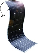 DOKIO 100W 12V / 18V Portable Monocrystalline Solar Panel, Flexible Thin Lightweight Solar Panel with MC4 for Home, RV, Boat, Tent, Car, Off-Grid or Any Other Irregular Surface