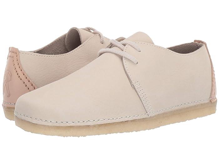 Clarks  Ashton (Off-White Nubuck) Womens Shoes