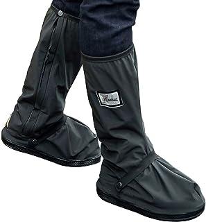 TFHEEY - Botas Impermeables, Fundas de Lluvia para Zapatos, Color Negro, Antideslizantes, Reutilizables, para Mujeres y Hombres