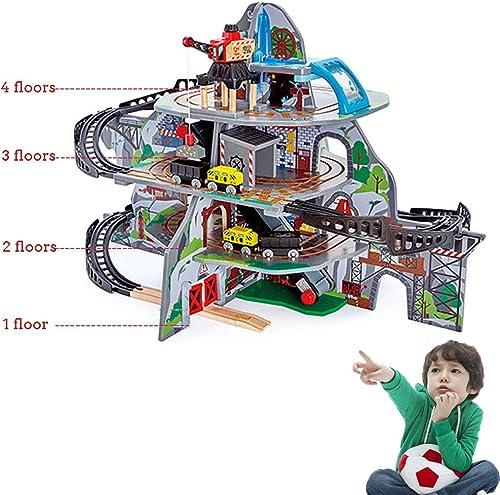 ganancia cero WDXIN Set Coche de Juguete Niños Garaje Tren electrico de de de Madera Mina Magica Traje de múltiples Capas Juguetes educativos Regalo de cumpleaños Infantil.  suministro de productos de calidad