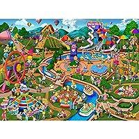 mmhhxx大人と子供用パズル1000ピース-遊園地パズル75X50CM