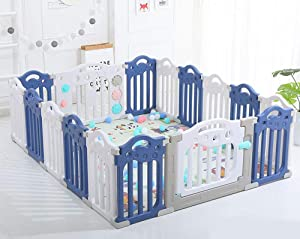 YWQZ Baby fence Playpen Including many Fun Activity Panel Fitted Floor Mats And Bright Strong And Durable Made From Non-Toxic Materials