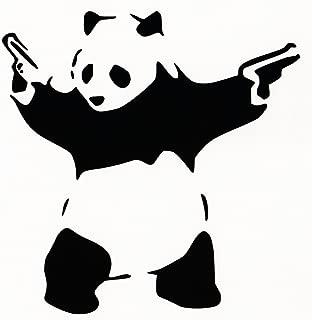 Panda With Guns Sticker Decal Car Bumper Bansky Windows Art Vinyl Truck (5.5