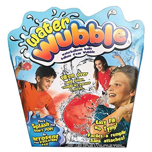Water Wubble Waterballoon Balls - Refillable, Reusable, Easy-Fill Valve, Seals Itself