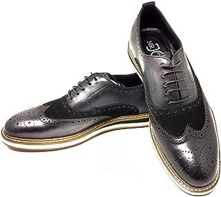 Mr. Jog Men's Premium Leather Casual Oxford Dress Shoe | Comfortable Insole | Lace Up | Rubber Sole