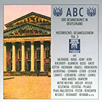 ABC Der Gesangskunst In Deutshland - Historisches Gesangslexikon (Teil.3)
