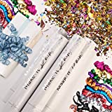 PRIMEPURE Premium Party Confetti Cannon - Set of 4- (Includes Streamer Cannons and Confetti) for Birthday, Graduation, New Years Eve, and Any Other Party or Celebration