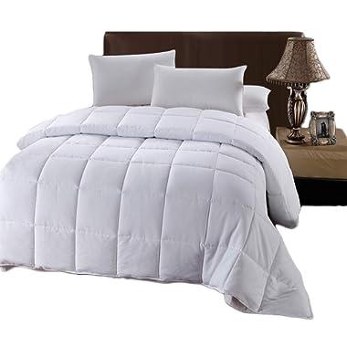 Royal Hotel Oversized King Down-Alternative Comforter - Duvet Insert, 100% Down Alternative Fill, Oversized-King - White