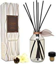 LOVSPA Smoked Vanilla Bean Reed Diffuser Set - Scented Stick Room Freshener Warm, Sultry Blend of Smoked Tahitian Vanilla, Sandalwood, Leather and Southern Bourbon - Great Gift Idea