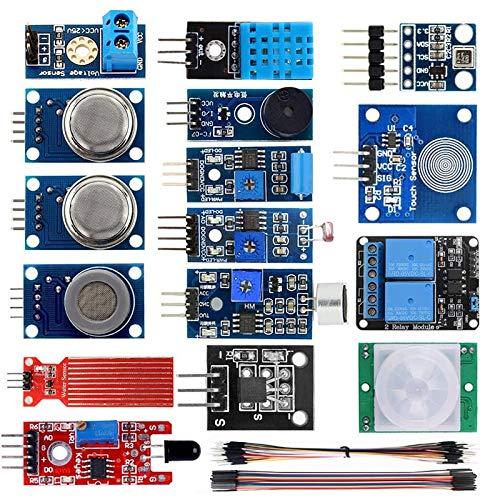 SNOWINSPRING 16 in 1 Smart Home Sensor Module Kit for Raspberry Pi DIY Professional