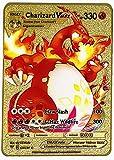 RULY Cartas de Metal Pokemon, Material de Acero Inoxidable, Regalos creativos, Decoraciones, Regalos para niños (1 PCS Charizard-VMAX)