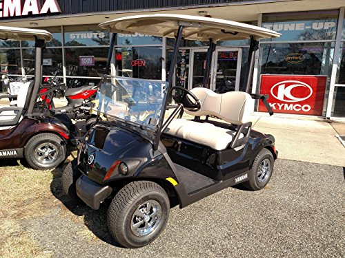 team golf golf carts Yamaha Drive 2017 to Current Clear Fold Down Impact Resistant Windshield for Yamaha Drive 2 Golf Cart Quick Disconnect
