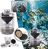 Colector de succión de taburete de peces, filtro automático de caca de pecera, cartucho de filtro de acuario multifuncional, contiene eficazmente heces de pescado para acuario