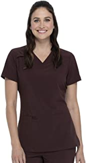 Dickies Women's Essentials V-Neck Solid Scrub Top