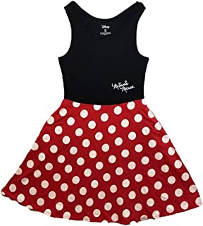 Disney Women Junior Minnie Mouse Dress Red Small