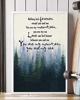 Mountains Song Lyrics Portrait Poster Print Mattata Decor (16