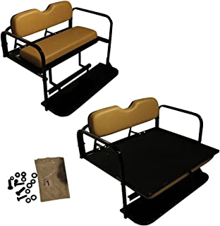 Performance Plus Carts Golf Cart Rear Seat EZ-GO TXT Tan Cushions