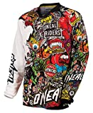 O\Neal Mayhem Crank Men\s Jersey (Black/Multi, Large)