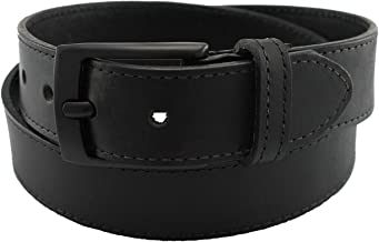 Men's Metal Free Leather Dress Belt Beep Free Security Friendly Highliner Made in the USA by Thomas Bates