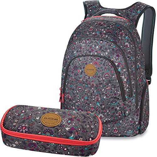 DAKINE 2er Set Rucksack Schulrucksack Laptoprucksack 25l Prom + School CASE Mäppchen WallFlower II