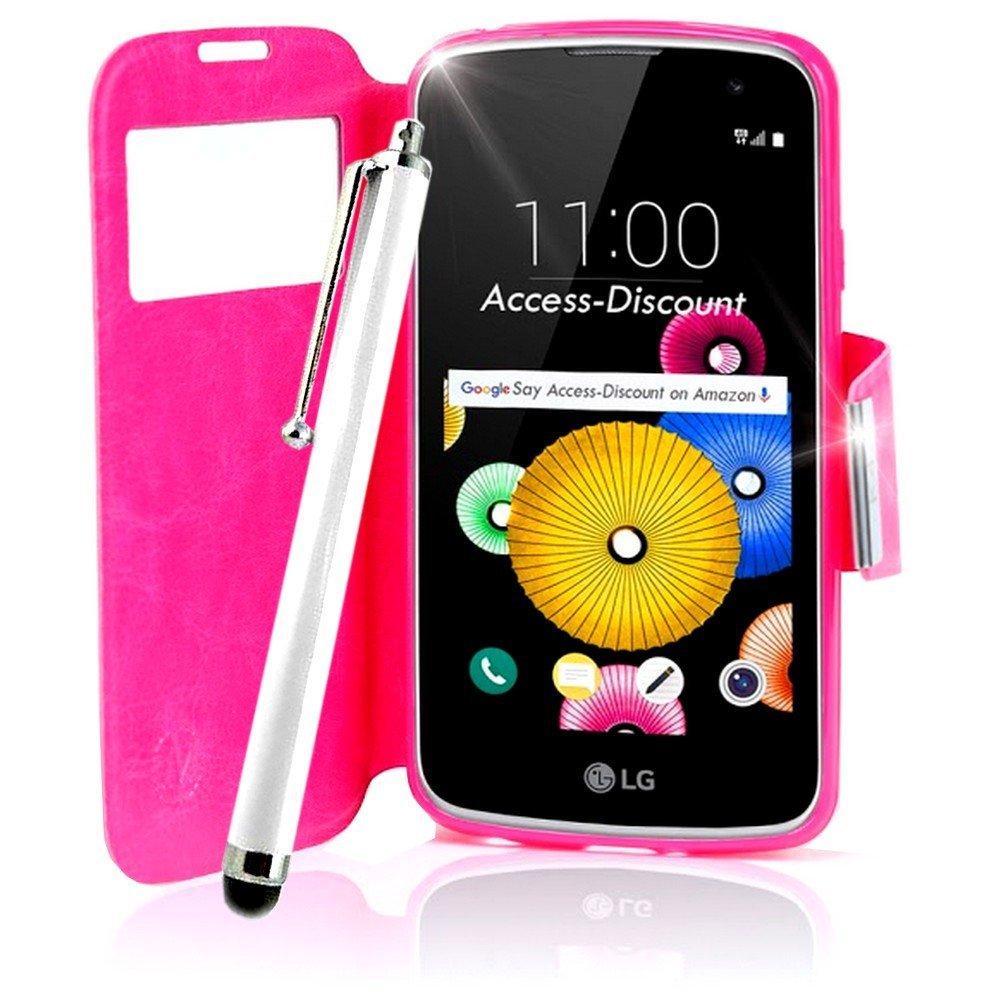 Access-Discount – Funda LG K10 – Carcasa calcetín de color rosa ...