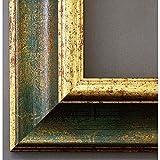 Artecentro cornici per Quadri su Tela Oro Colore con passepartout in Legno 50x70 (Oro/Verde)