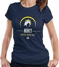 Mercy Heroes Never Die Overwatch Women's T-Shirt