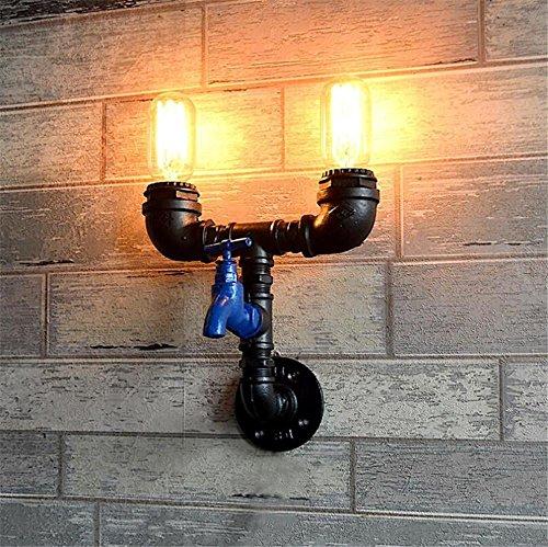 Atmko®Applique Murale Vintage Industriel Appliques Applique Applique Applique Chambre Couloir Couloir Bar Café Restaurant Escalier Accueil Fer Forgé Tuyaux D'Eau Applique