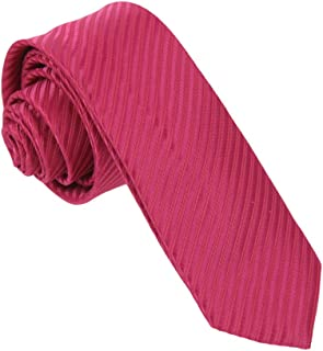 Dan Smith Men's Fashion Multicolored Microfiber Skinny Tie With Free Gift Box