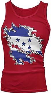 Amdesco Junior's Honduras Tear Through Rip Out Honduran Flag Tank Top